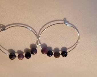 Tourmaline earrings multicolored