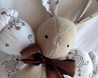 White and Brown rabbit plush toy
