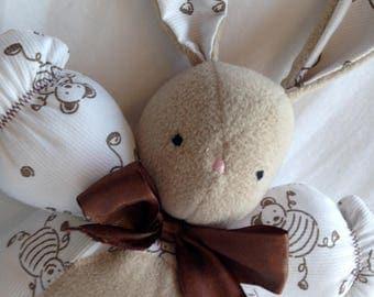 White and Brown rabbit plush toy