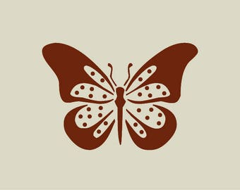 The butterfly. Adhesive vinyl stencil. (ref 145)