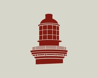 Lighthouse stencil. Cap Ferret stencil. Cap Ferret (ref 576) lighthouse