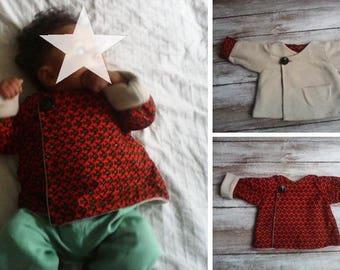 coat fleece, reversible baby and African