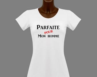 T-shirt women white humor perfect for man