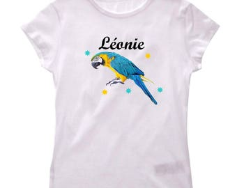 Girl Parrot personalized with name t-shirt