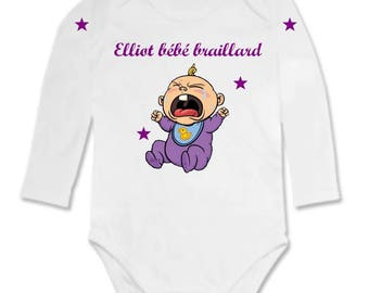 Roaring Bodysuit personalized with name