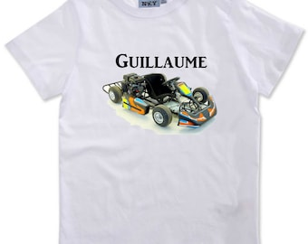 T-shirt boy Kart personalized with name