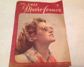 1940s fashion magazines marie france paris set of 5 winter. Black Bedroom Furniture Sets. Home Design Ideas