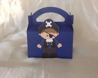 Pirate birthday candy box