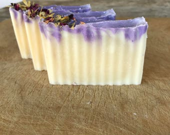Lavender Soap / Cold Process Soap / Handmade Soap / Natural Soap / Bar Soap / Vegan Soap