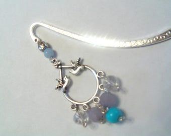 bookmark as a blue jewel