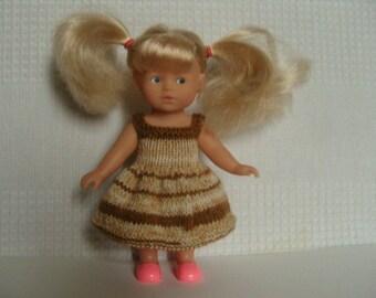 Dress for mini Corolline corolla, brown tone