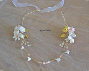 Wedding Crown pearls and flowers