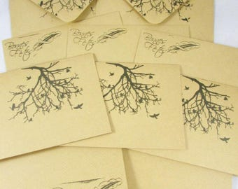 Set of 5 greeting cards with envelopes - REF CC010