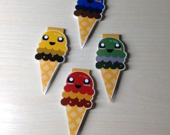 Wizarding House Inspired Ice-Cream Magnetic Bookmark (seconds)