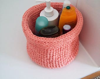 For bathroom storage basket