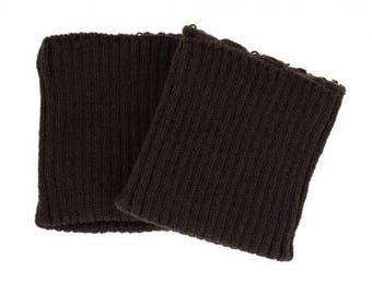 Dark brown knitted cuffs sold by 2