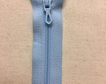 12 cm Blue azure not separable ZIPPER PRESTIL zipper closure