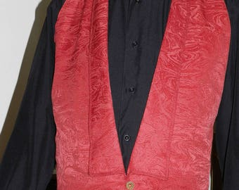 Man bib Burgundy bow tie vest