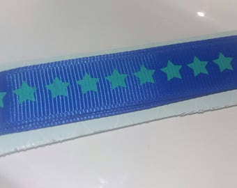 1 pretty Blue Ribbon with green stars