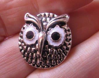 snap 20mm metal theme owl