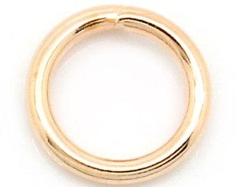 metal 50 rings rose gold 6 mm
