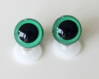 Secure eyes 18mm emerald green for toy or stuffed animal