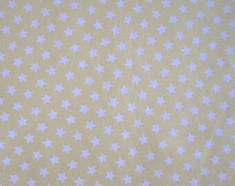 """Yellow """"Stars"""" pattern cotton JERSEY"""
