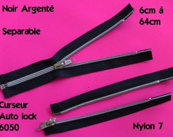 zipper with slider autolock separable zipper long 8 to 64cm, closed business jacket...