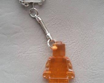 Key shaped snowman resin Orange toy