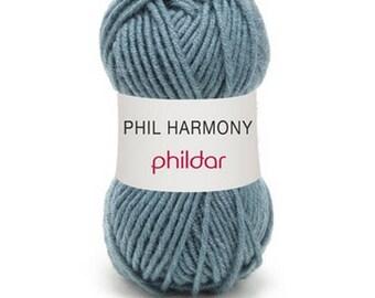 """Garance"" wool PHIL HARMONY green gray color"