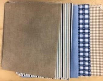 set of 5 couponsde fabrics for patchwork