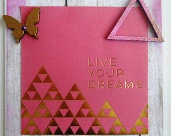 greeting card 'live your dreams'