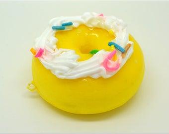 Mega whipped cream yellow donut charm