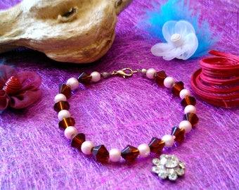 Bracelet light pink beads