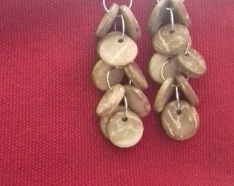 coco pastille Silver earrings