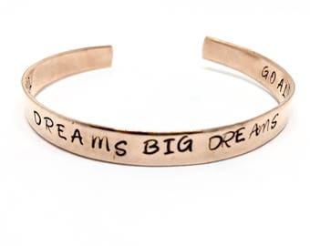 Customizable Bracelet, Secret Message, Custom Quote, Goal Dream Reminder, Motivational, Inspirational, Honor Grad Gift