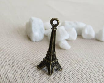 Bronze Eiffel Tower charm 3 cm in height