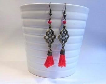 Asian-inspired earrings