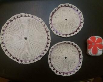 2 potholders and trivets set a Pincushion