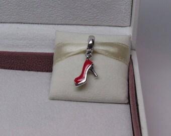 Genuine Pandora Red Stiletto Dangle Charm 792154EN09