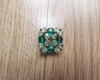 Not green swarovski ring.