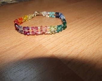 Handmade bracelet with swarovski beads.