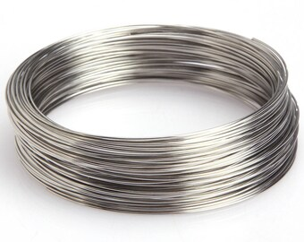 100 rounds of 60x0.6 cm silver bracelet memory wire