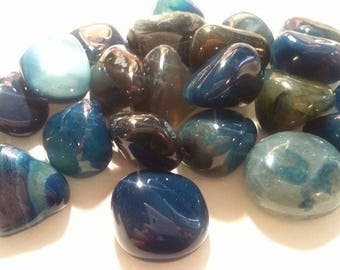 approximately 2.5 cm 1 wrapped blue Agate stone