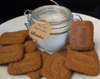 Biscuit with soy wax candle