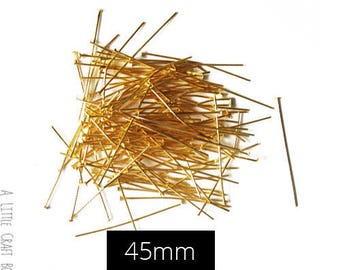 WHOLESALE LOT - 200 nails 45mm - gold