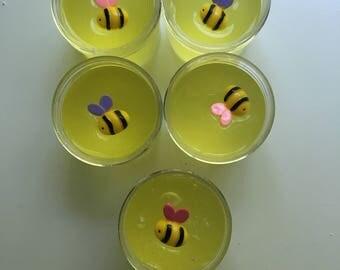 Bee stuck in honey