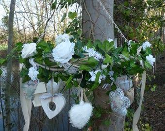 Wedding hanging wreath