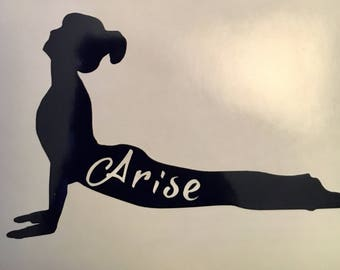 Upward Facing Dog - Arise - Yoga - Vinyl Decal