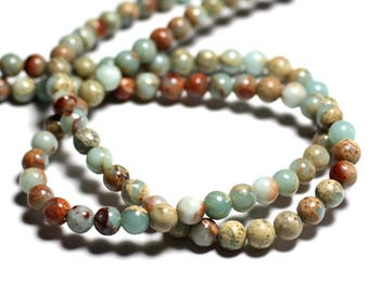 5pc - stone beads - Jasper Aqua Terra balls 8mm 4558550026231
